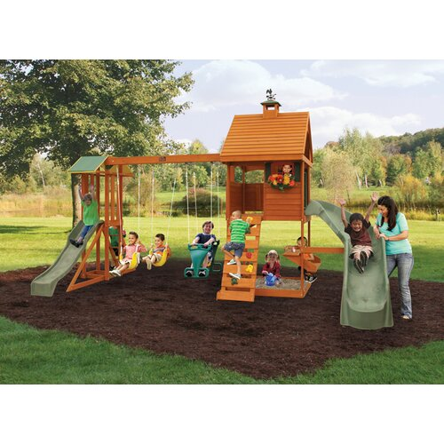 details about big backyard laurelwood swing set f23260