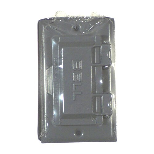 details about hubbellraco single gang weatherproof gfci box cover