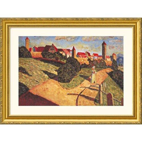 Picture Unknown Kandinsky 15 Gold Framed Print   Wassily Kandinsky
