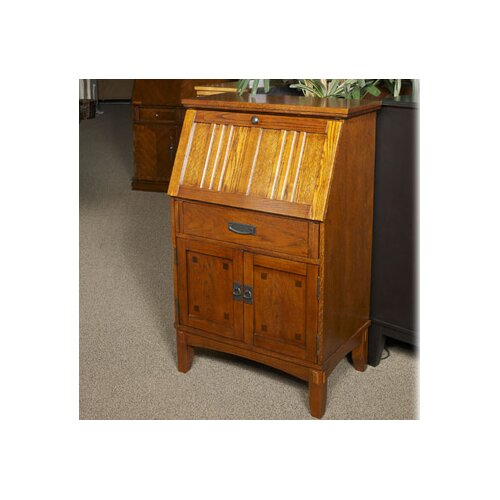 Wildon Home Cross Island Small Drop Front Secretary Desk