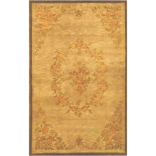 American Home Rug Co. Neo Nepal Aubusson Flowers Gold Area
