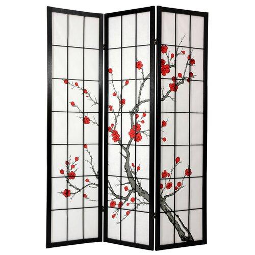 Oriental Furniture 72 Cherry Blossom Decorative Room Divider