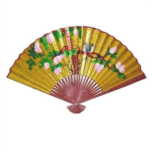 Oriental furniture decorative golden oriental fan wall d cor ebay - Wall fans decorative ...