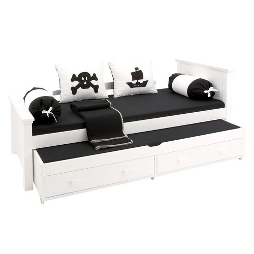 hoppekids bett deluxe mit ausziehbett ebay. Black Bedroom Furniture Sets. Home Design Ideas