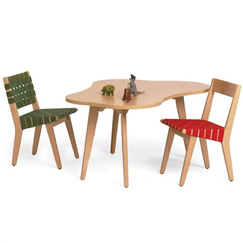 Knoll Risom Kid's Side Chair and Amoeba Table
