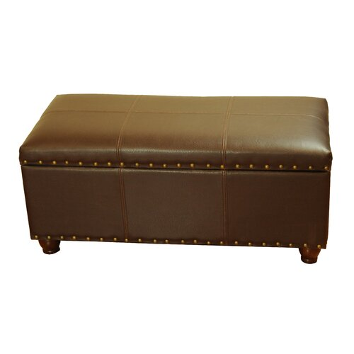 Details about Kinfine Leather Storage Bedroom Bench