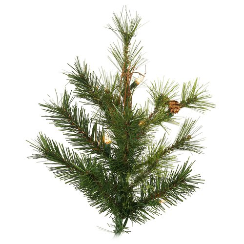 Vickerman Mixed Country Pine 9 Artificial Christmas Tree with Clear