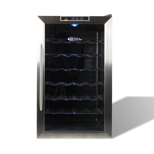 dihl freestanding 28 bottle wine cooler fridge in. Black Bedroom Furniture Sets. Home Design Ideas