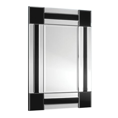 Total mirrors 120 x 80 cm rectangle mirror in black cubes for Miroir 80x120
