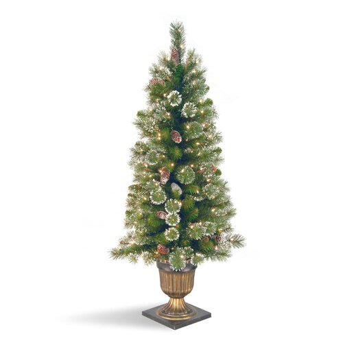 National Tree Co. Glittery Pine Pre Lit 4 Entrance Tree   GP1 329
