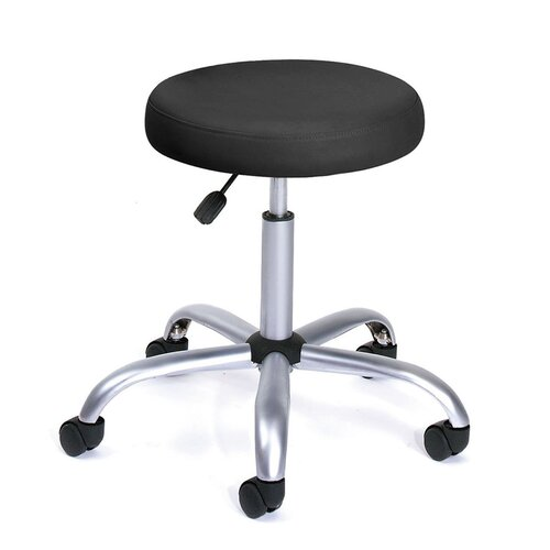 Boss Office Products Height Adjustable Doctors Stool With Casters Black EBay