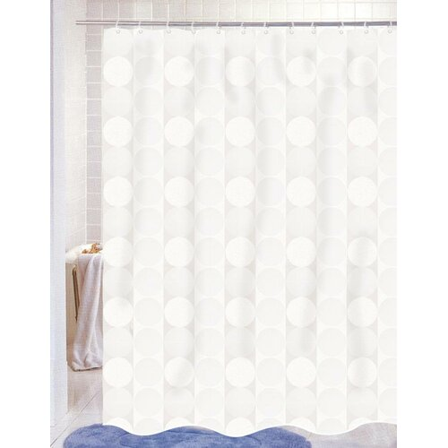 Carnation Home Fashions Jacquard 100% Polyester Fabric Shower Curtain