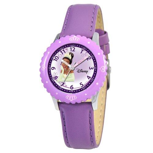 Disney Kids Tiana Time Teacher Watch in Purple Leather