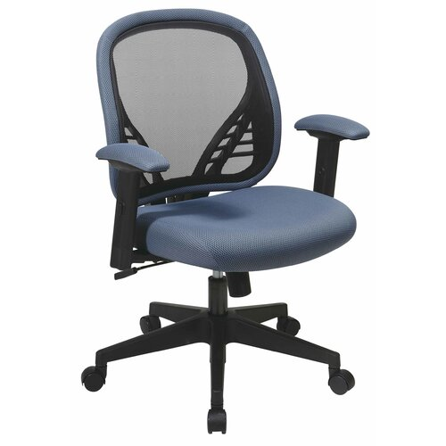 Office Star Space Seating Mid Back Mesh Managerial Chair With DuraGrid 819  N8