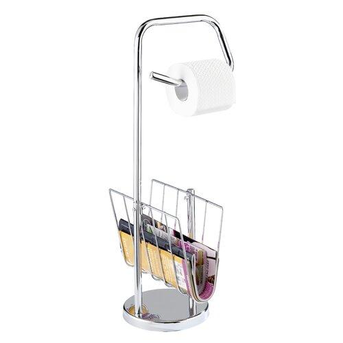 freistehender toilettenpapierhalter und zeitungsst - Freistehender Toilettenpapierhalter Chrom