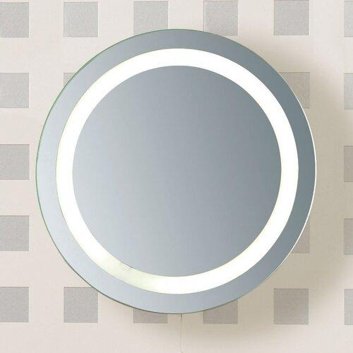 endon lighting badspiegel rund marli ebay. Black Bedroom Furniture Sets. Home Design Ideas
