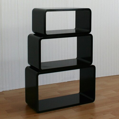 cleverfurn 3 tlg regalw rfel set oval aus holz ebay. Black Bedroom Furniture Sets. Home Design Ideas