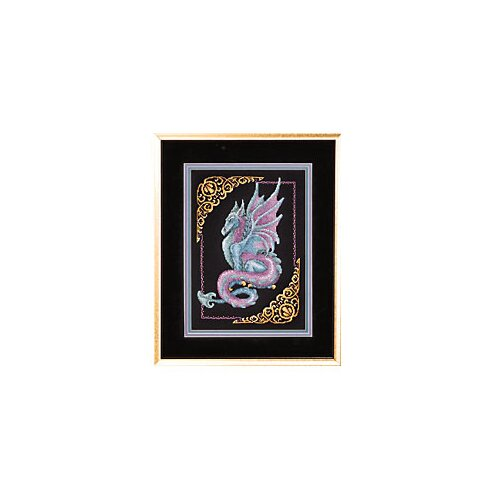 Mythical Janlynn Picture Kit 11x15 14 Counted Cross Stitch Dragon
