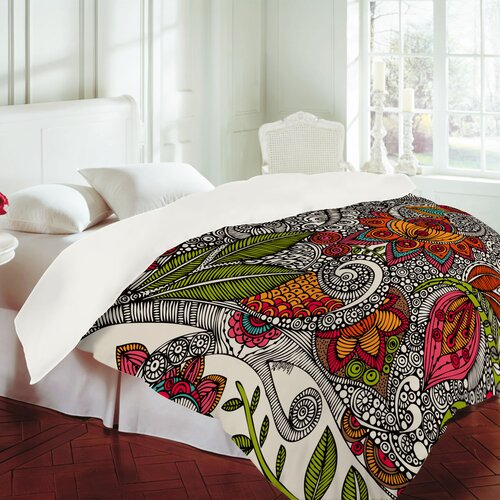 Deny Designs  Valentina Ramos Bird In Flowers Black White Duvet Cover Twin//Twin XL 13499-duwtwi