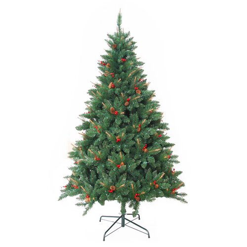 Zest Candle 7 Feet Pre Lit Berrywood Pine Artificial Christmas Tree