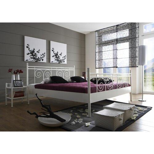 Metallbett Rhodos | Schlafzimmer > Betten > Metallbetten | Blackwhite | Metall | Dico Moebel