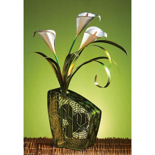 Deco Breeze Cala Lilies Figurine Table Top Fan