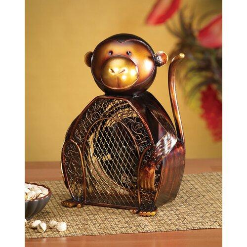 Deco Breeze Monkey Figurine Table Top Fan