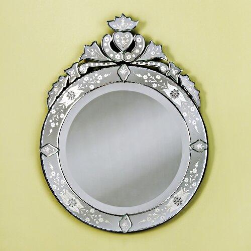 Venetian Gems Large Round Venetian Wall Mirror
