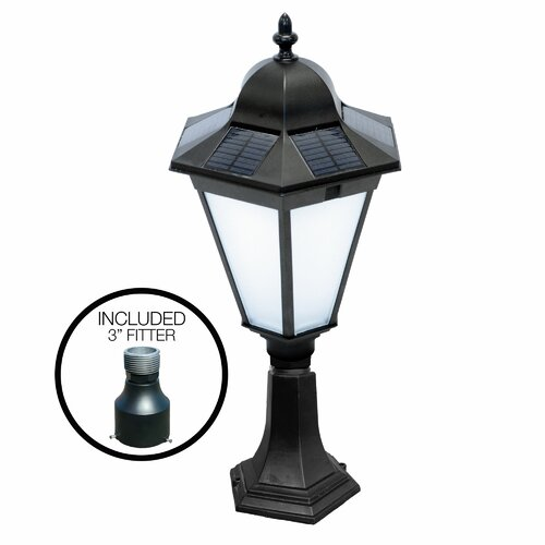 details about nature power essex solar 19 light post lanter. Black Bedroom Furniture Sets. Home Design Ideas