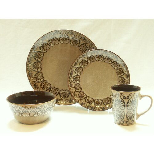 222 fifth sentosa 16 piece dinnerware set ebay for 222 fifth dinnerware