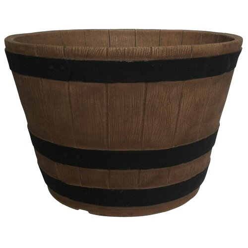 Planters Online Whiskey Round Barrel Planter | eBay