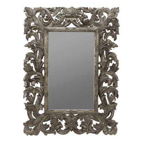 Cooper Classics Tara Wall Mirror in Distressed Silver Crackle   4916