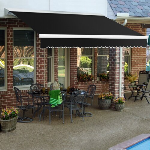 AWNTECH LX-Destin Awning - Size: 18' W x 10' Projection, Color: Linen Pin, Motor Orientation: Manual at Sears.com