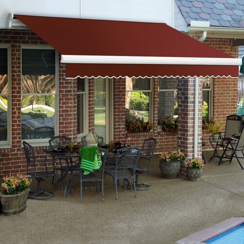 AWNTECH LX-Maui Awning - Size: 24' W x 10' Projection, Color: Terra Cotta, Motor Orientation: Manual at Sears.com