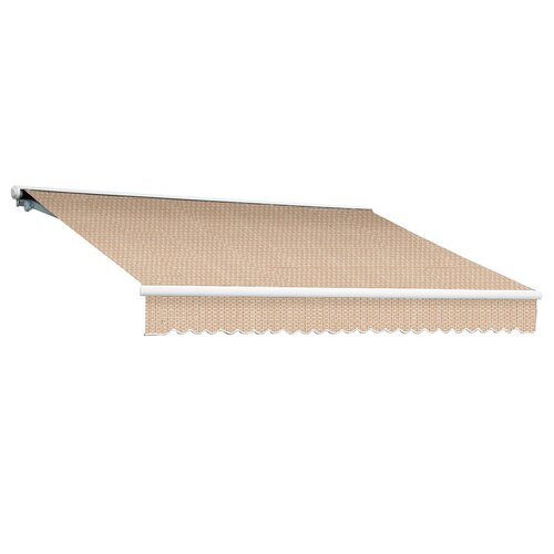 AWNTECH Galveston Semi-Cassette Awning - Size: 20' W x 10' Projection, Color: Linen Pin, Motor Orientation: Manual at Sears.com