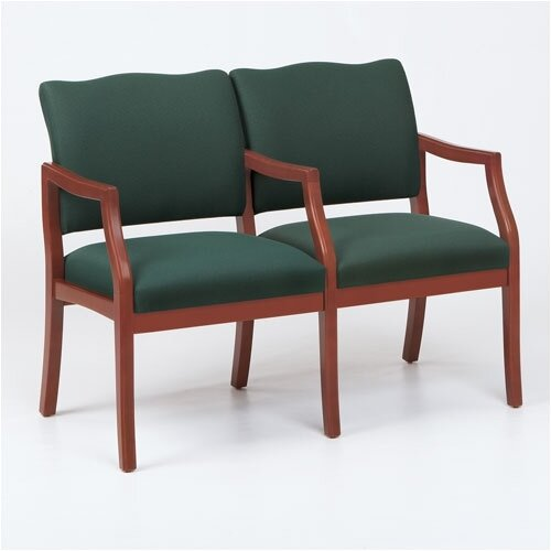 Lesro Franklin Two Seats - Arms: Center Arm Included, Finish: Natural, Material: Renaissance Chalk Vinyl at Sears.com
