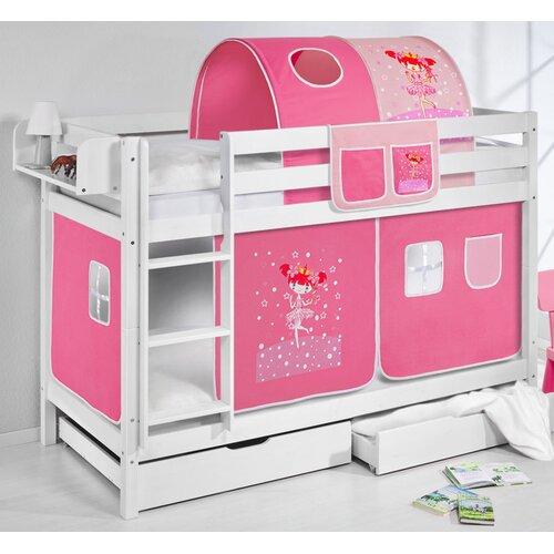 Etagenbett Zauberfee mit Hochbettvorhang 90cm x 200cm | Kinderzimmer > Kinderbetten > Etagenbetten | White | Holz | Lilokids