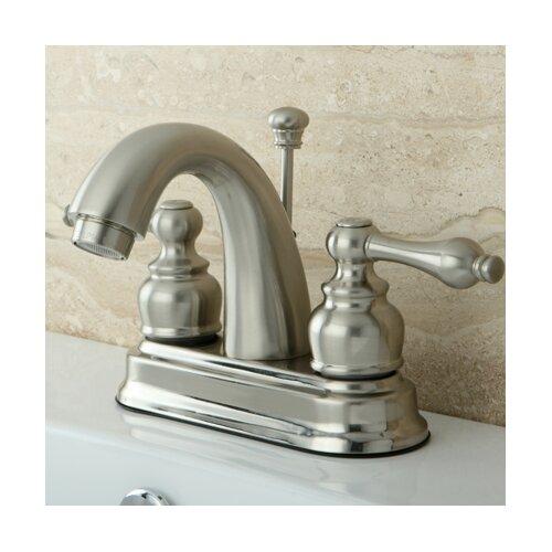 restoration double handle centerset bathroom sink faucet