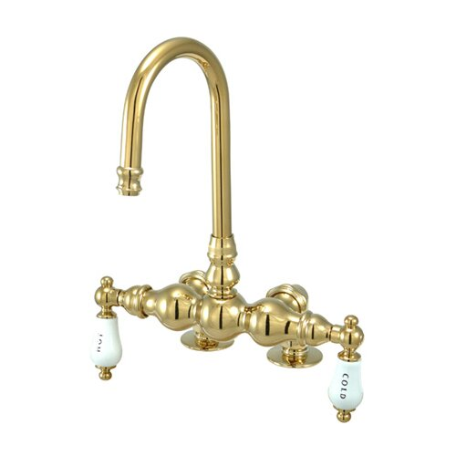 Kingston Brass Vintage Deck Mount Clawfoot Tub Faucet EBay
