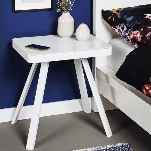Nachttisch Smart By Side | Schlafzimmer > Nachttische | White | Glas - Metall | Jahnke