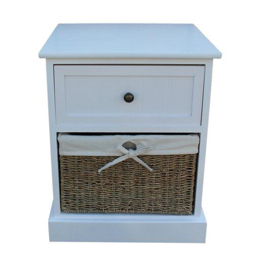 Nachttisch mit 1 Schublade Gainesville | Schlafzimmer > Nachttische | Weiß | Holz | Brambly Cottage