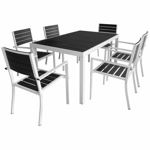 6-Sitzer Gartengarnitur   Garten > Gartenmöbel > Gartenmöbel-Set   Schwarzweiß   Garten Living