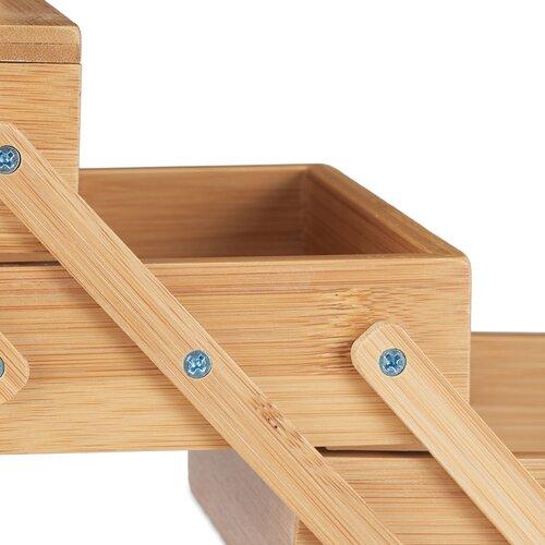 Nähkästchen aus Massivholz | Dekoration > Aufbewahrung und Ordnung > Kästchen | Brown | Mdf - Bambus - Massivholz | Symple Stuff