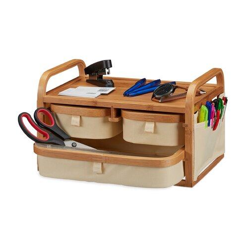 Badezimmer-Organizer | Bad > Badmöbel > Badmöbel-Sets | Beigebrownespresso | Bambus - Holz | Symple Stuff