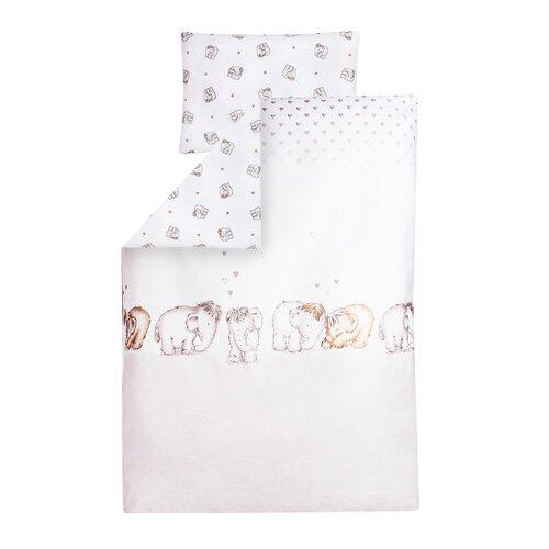 Kinderbettwäsche Mammuts in Love   Kinderzimmer > Textilien für Kinder > Kinderbettwäsche   Browngrey &  silver   Baumwolle   Julius Zöllner