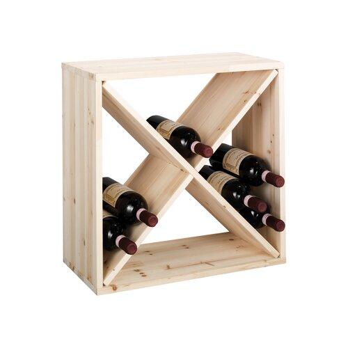 Weinregal X | Küche und Esszimmer > Küchenregale > Weinregale | Brownnatural | Massivholz | Zeller