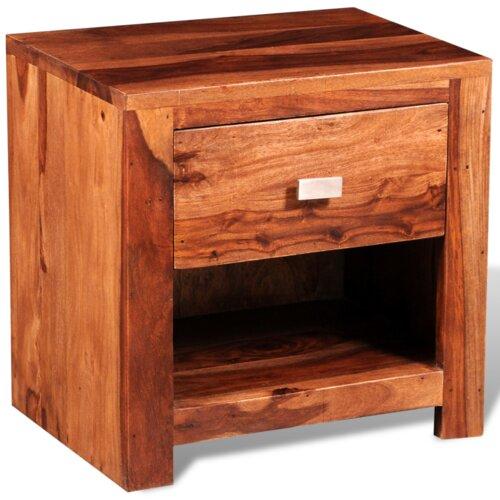 Nachttisch mit Schublade | Schlafzimmer > Nachttische | Braun | dCor design