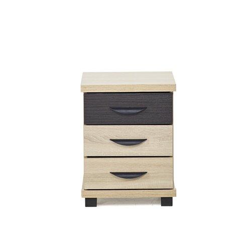 Nachttisch Valle mit 3 Schubladen | Schlafzimmer > Nachttische | Sonoma | dCor design