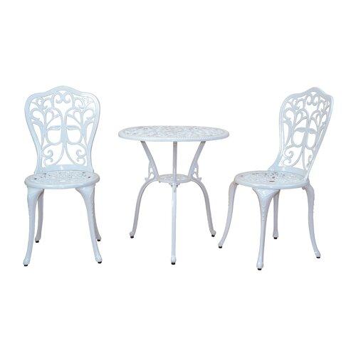 2-Sitzer Balkonset | Garten > Balkon > Balkon-Sets | White | Aluminium - Metall - Rattan - Polyester | CleverFurn