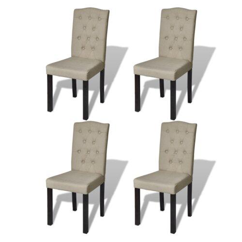 Polsterstuhl-Set   Küche und Esszimmer > Stühle und Hocker > Polsterstühle   Beige   Holz - Polyester   Home Etc